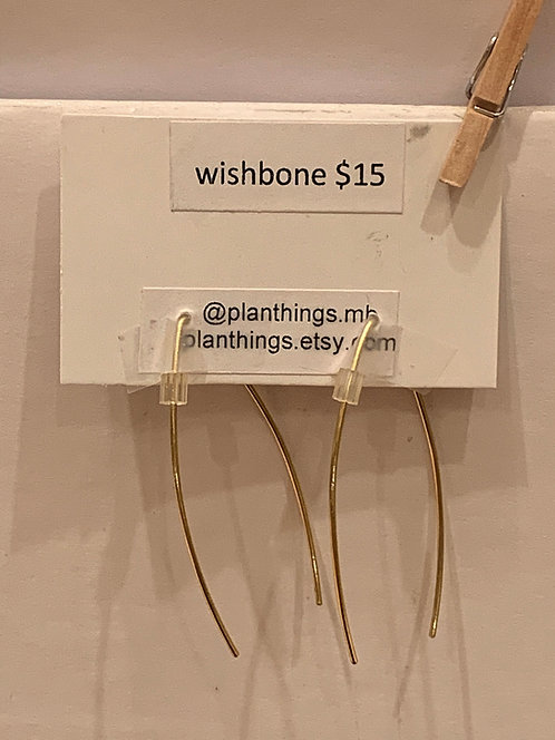 planThings Earrings Wishbone