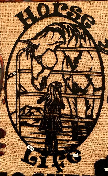 Steel Art Silhouettes Horse Life Black