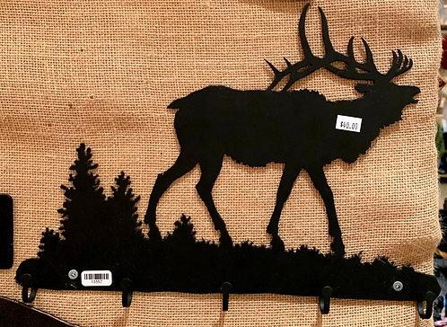 Steel Art Silhouettes Key Elk Bugle