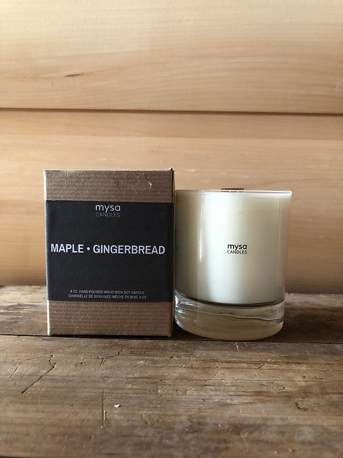 Mysa Maple Gingerbread Glass Candle