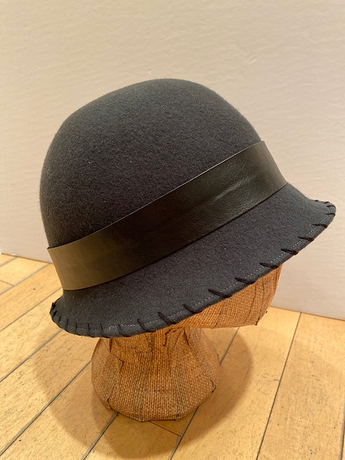 MLHS M05 Dark Grey with black leather band Hat