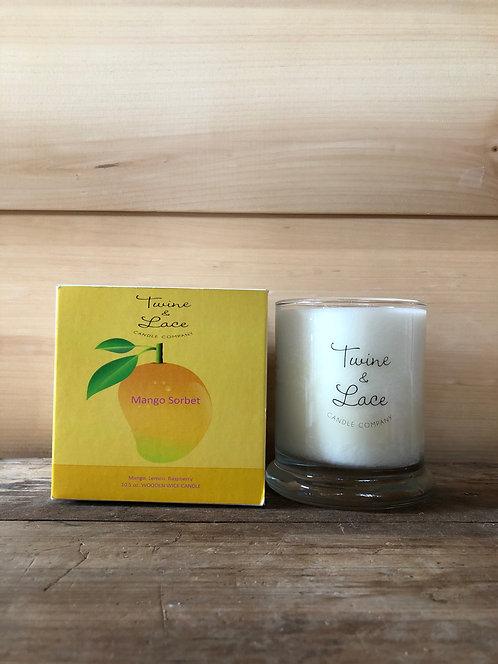 Twine & Lace Glass Candle Mango Sorbet