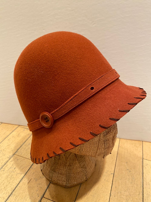 MLHS M06 burnt orange with hole-punched  belt Hat