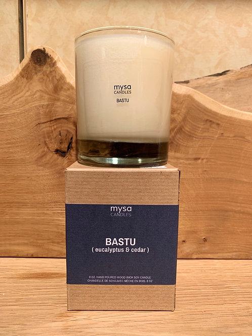 Batsu (Eucalyptus & Cedar) Glass Candle