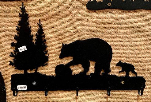 Steel Art Silhouettes Key Bear & Cub