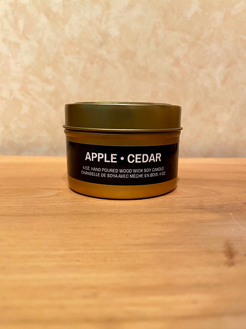 Mysa Apple Cedar Tin Candle