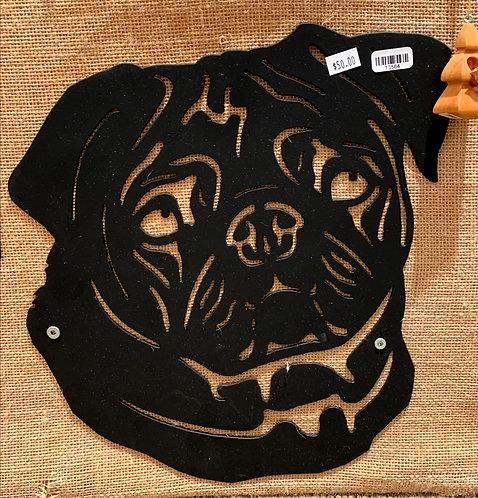 Steel Art Silhouettes Pug Dog Head
