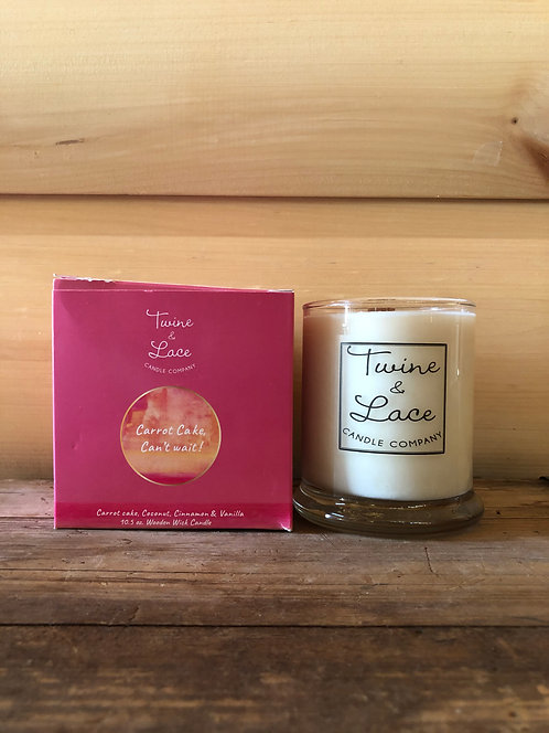 Twine & Lace Glass Candle Carrot Cake Cant Wait