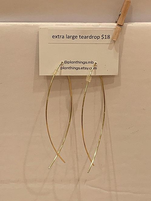 planThings Earrings Extra Large Teardrop