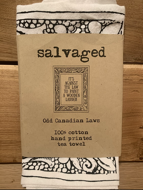 Salvaged Odd Canadian Laws Tea Towel
