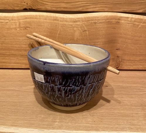 Deb Brown Noodle/Rice Bowls w/chopsticks