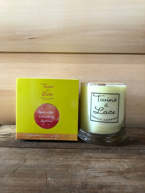 Twine & Lace Glass Candle Apple Cider