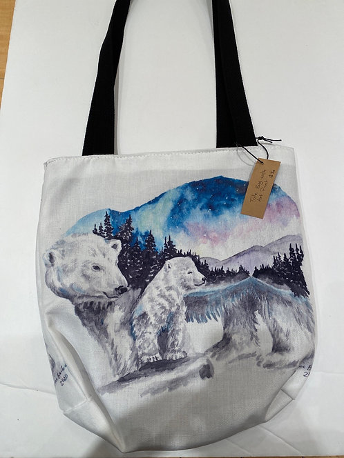 Rugged Trail Tote Bags With Art Prints