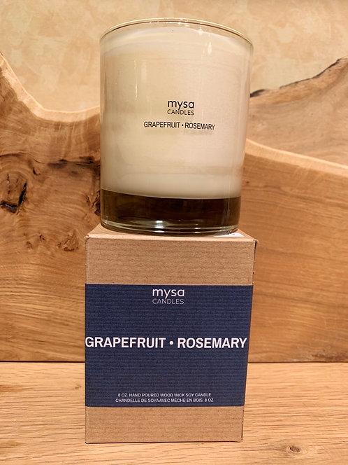 Grapefruit Rosemary Glass Candle