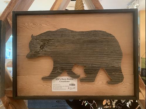 Barn Board Cut Out Bear