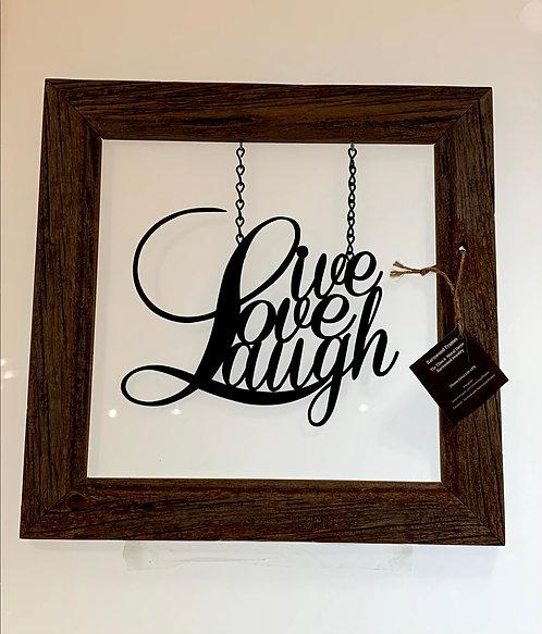 Nature's Touch Frames SK14 Barnwood Framed Live Love Laugh
