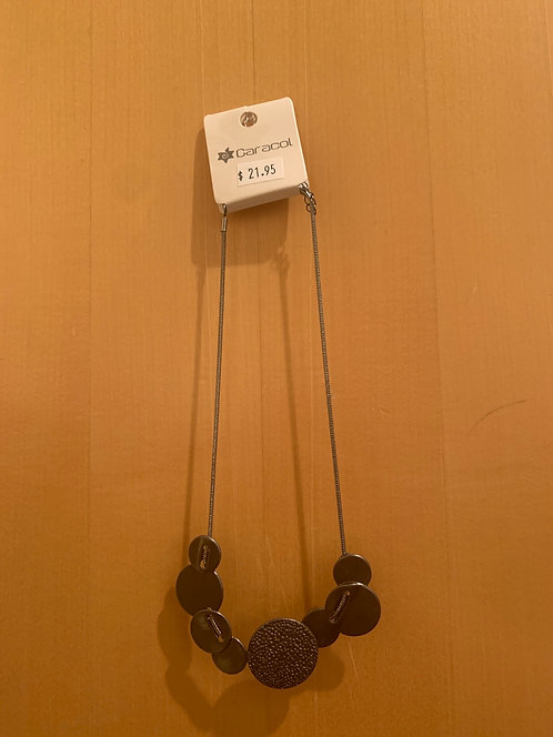 Caracol hematite necklace