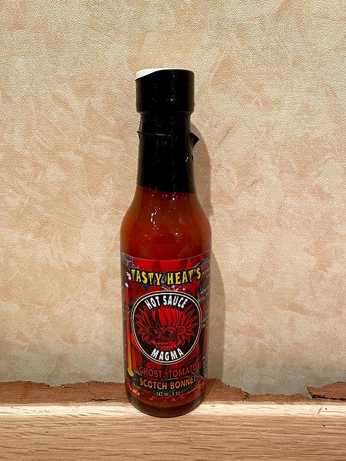 De Luca's Tasty Heat's Fire Devil Hot Sauce Magma