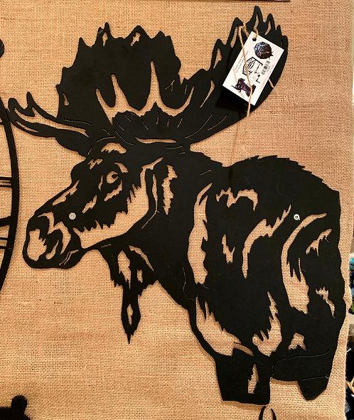 "Steel Art Silhouettes Moose Head 18"""
