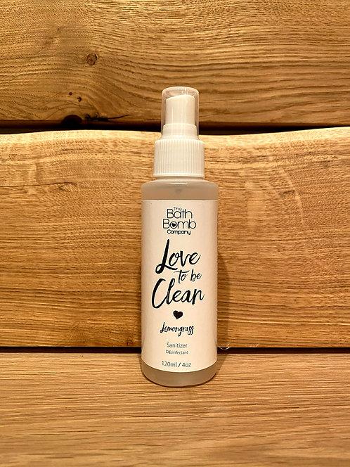 Love To Be Clean Sanitizer Spray Lemongrass 120ml