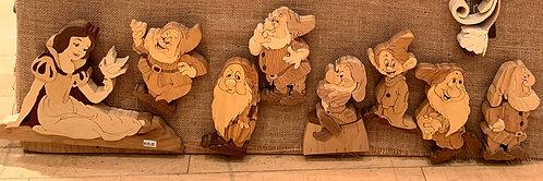 Harold's Intarsia Snow white & 7 Dwarfs Set