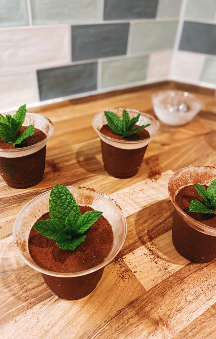 Affogato chocolate mousse