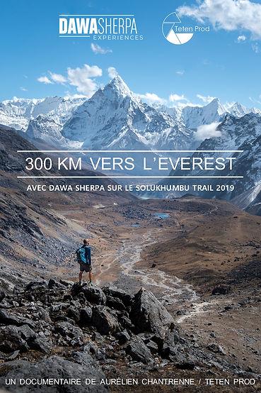 300km vers l'Everest. Affiche Teten Prod