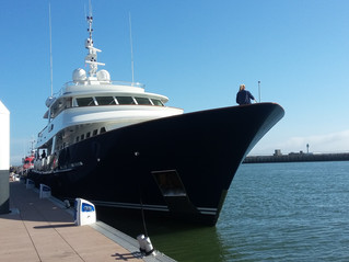 35m Yacht in the port of Le Havre