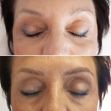 Microblading hairstroke brows