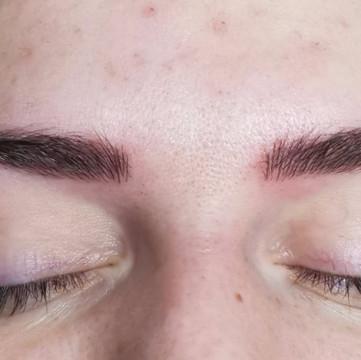 Microblading combination brows