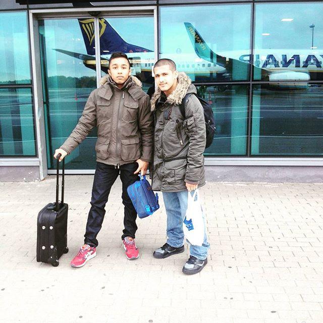 AbdurRahman Miah (Left) Abdullah Bhaijee (Right) - Riga, Latvia - Juniour Wrestling Grand Prix