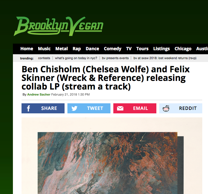 "SONG PREMIERE: ""IV"" BY BEN CHISHOLM & FELIX SKINNER"
