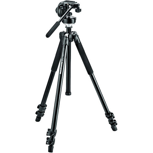 Compact Action aluminium tripod with hybrid head, black