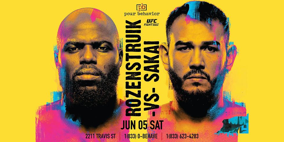 UFC Fight Night : Rozenstruik vs Sakai Watch Party