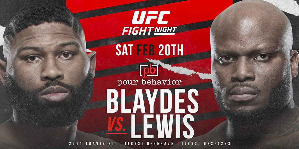 UFC Fight Night : Blaydes vs. Lewis