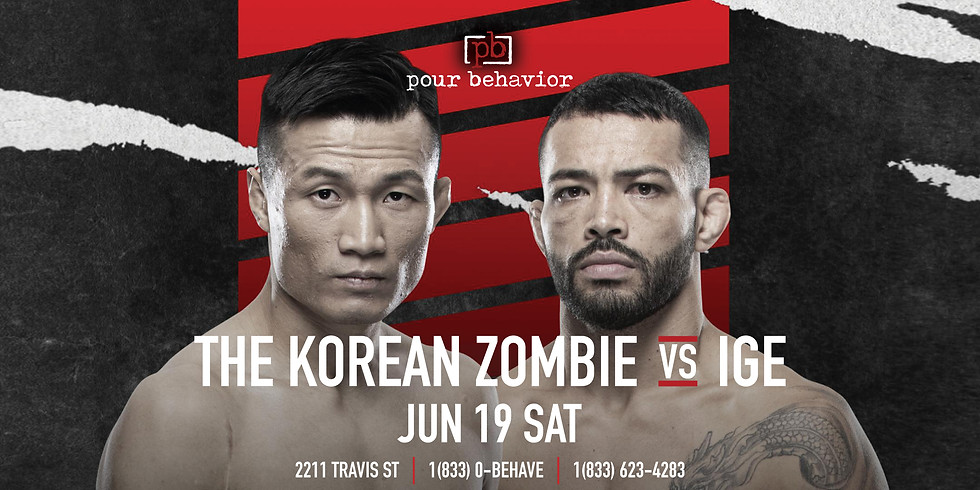 UFC Fight Night : The Korean Zombie VS Ige Watch Party