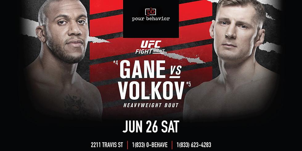 UFC Fight Night:  Gane VS Volkov Watch Party