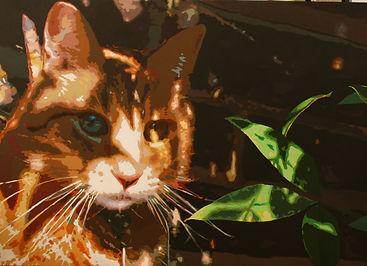 Christmas 2009, Glenns paintings (dog ca