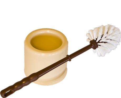 Klosettbørste rund med skål