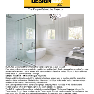 ROHL Designer Open Call Contest