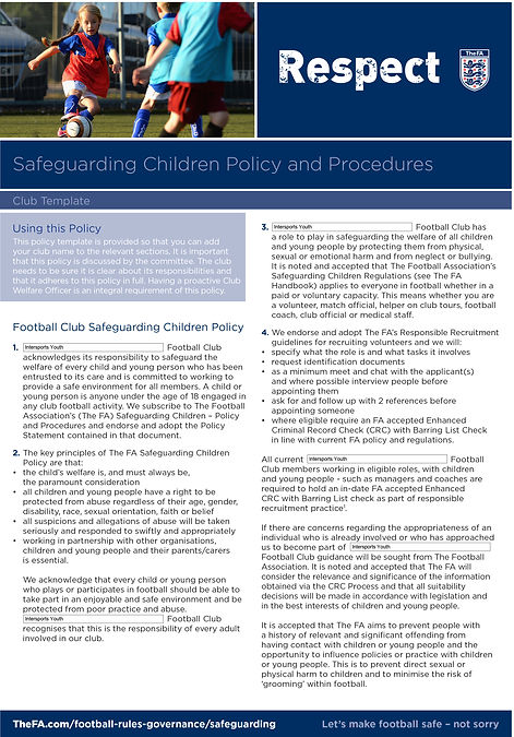 Intersports Youth Safeguarding Policy 01