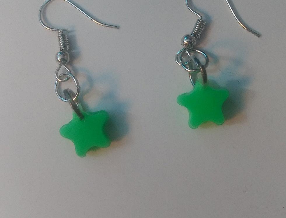 Star Bead Earrings