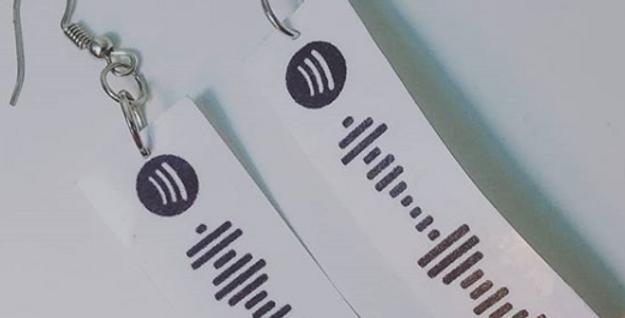 Custom Spotify Code Earrings