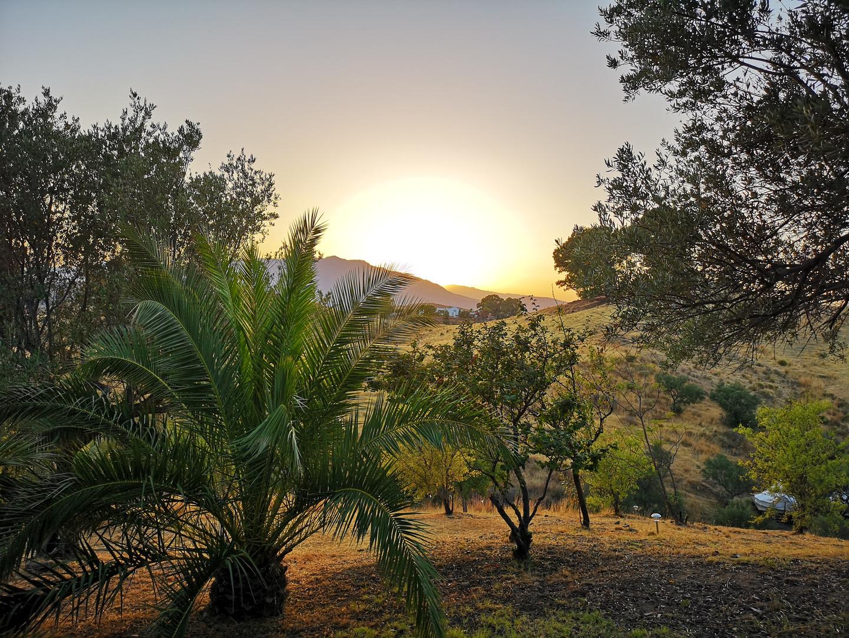 Coucher de soleil à Pura Natura