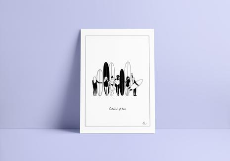 Print COLOURS OF LOVE (black & white version)
