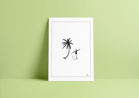 Print TROPICAL SURF