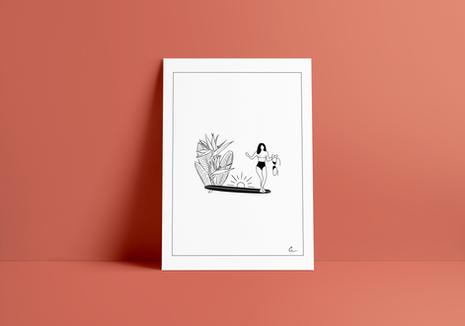 Print LOSING BRA