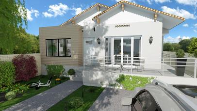Création d'une extension de maison