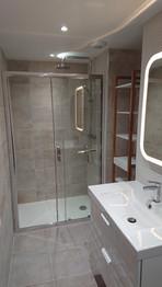 Creation d'une salle de douche