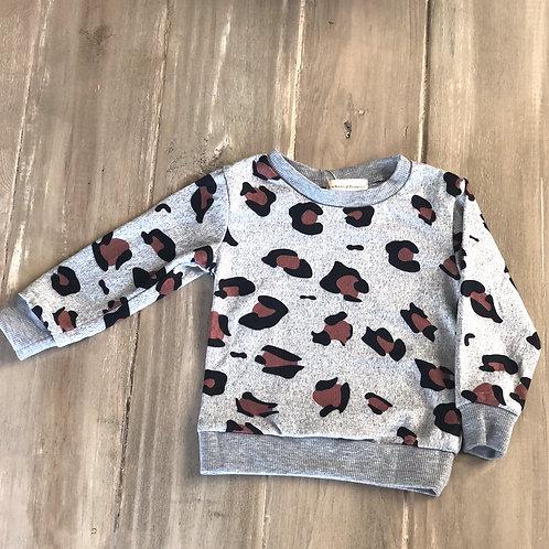 Gray Leopard Sweater